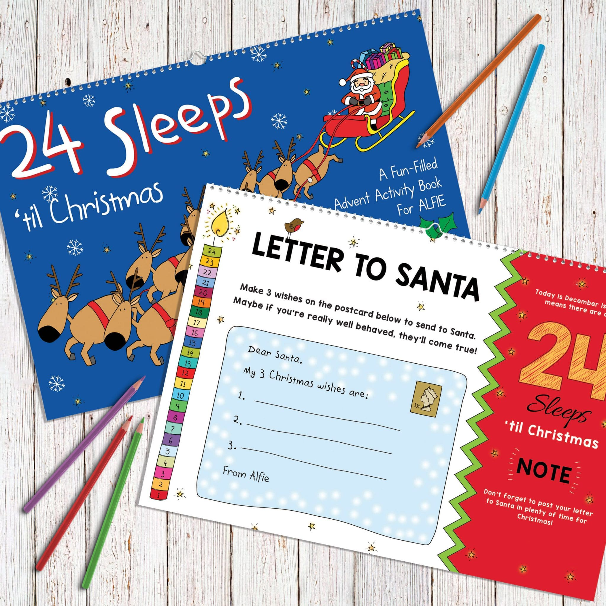 Sleeps Til Christmas Personalized Book  Signature Gifts