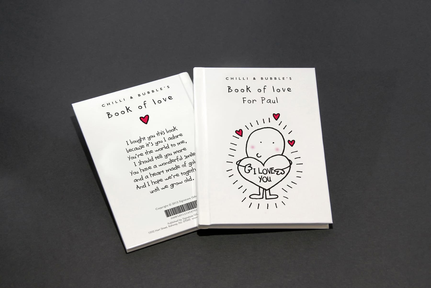 chilli and bubble s personalized book of love signature gifts