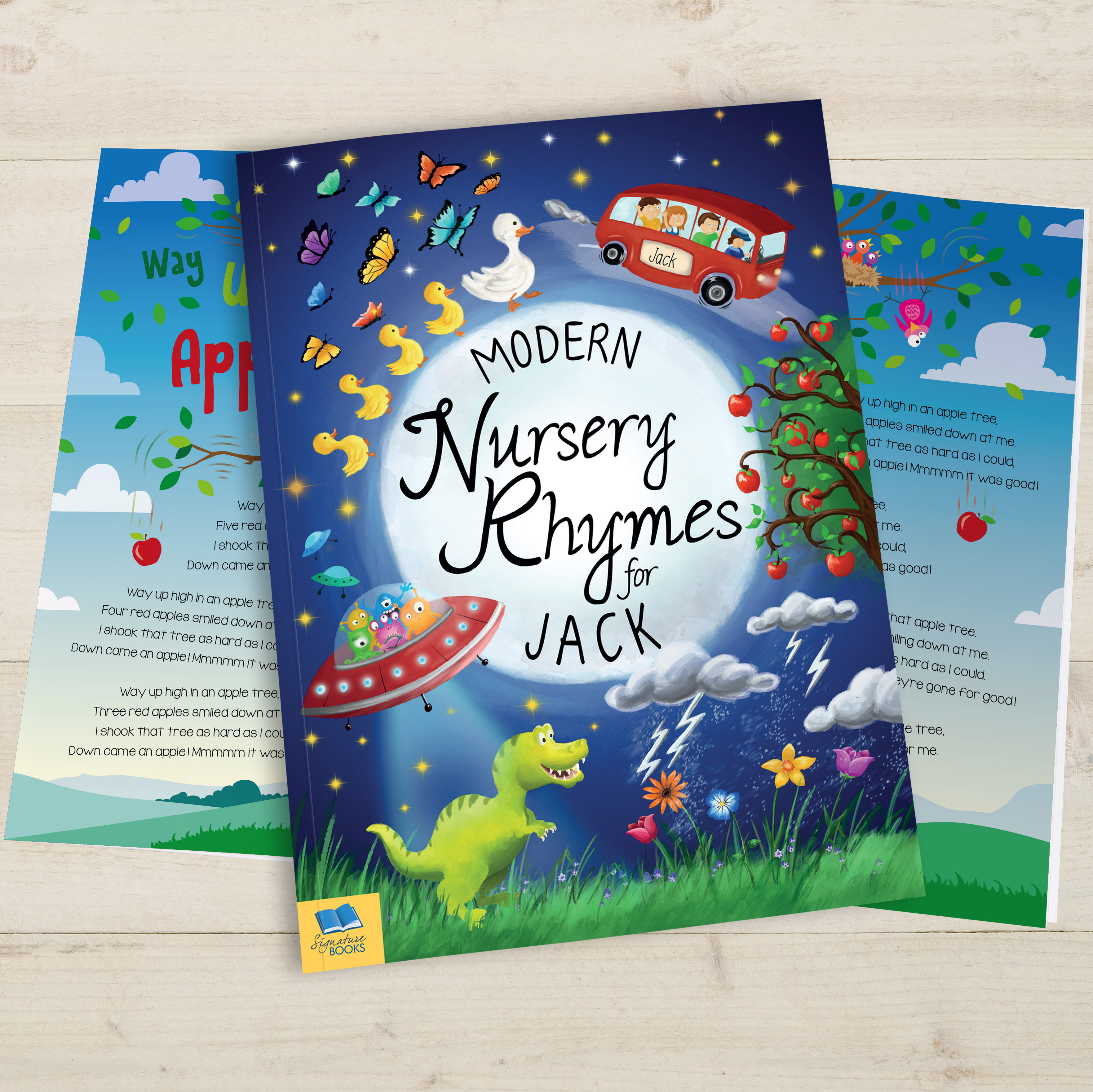 Personalized Modern Nursery Rhymes Book