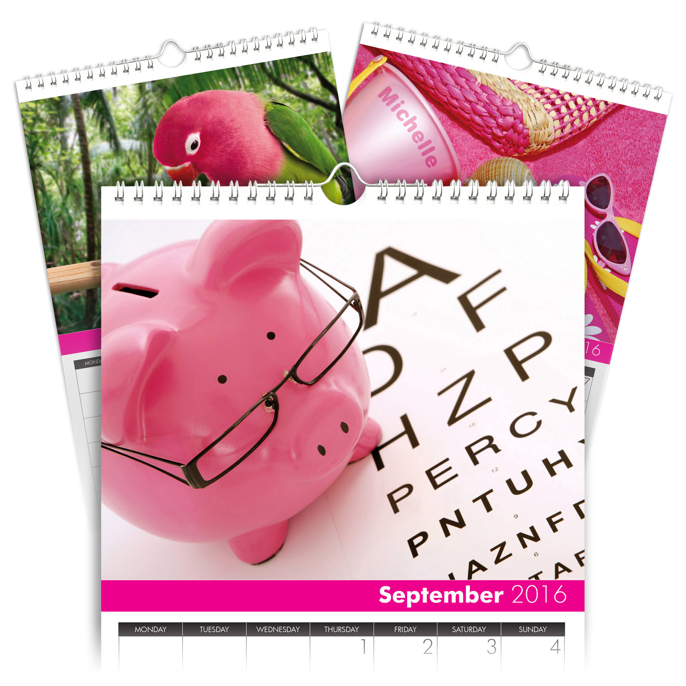 personalized all things pink calendar signature gifts