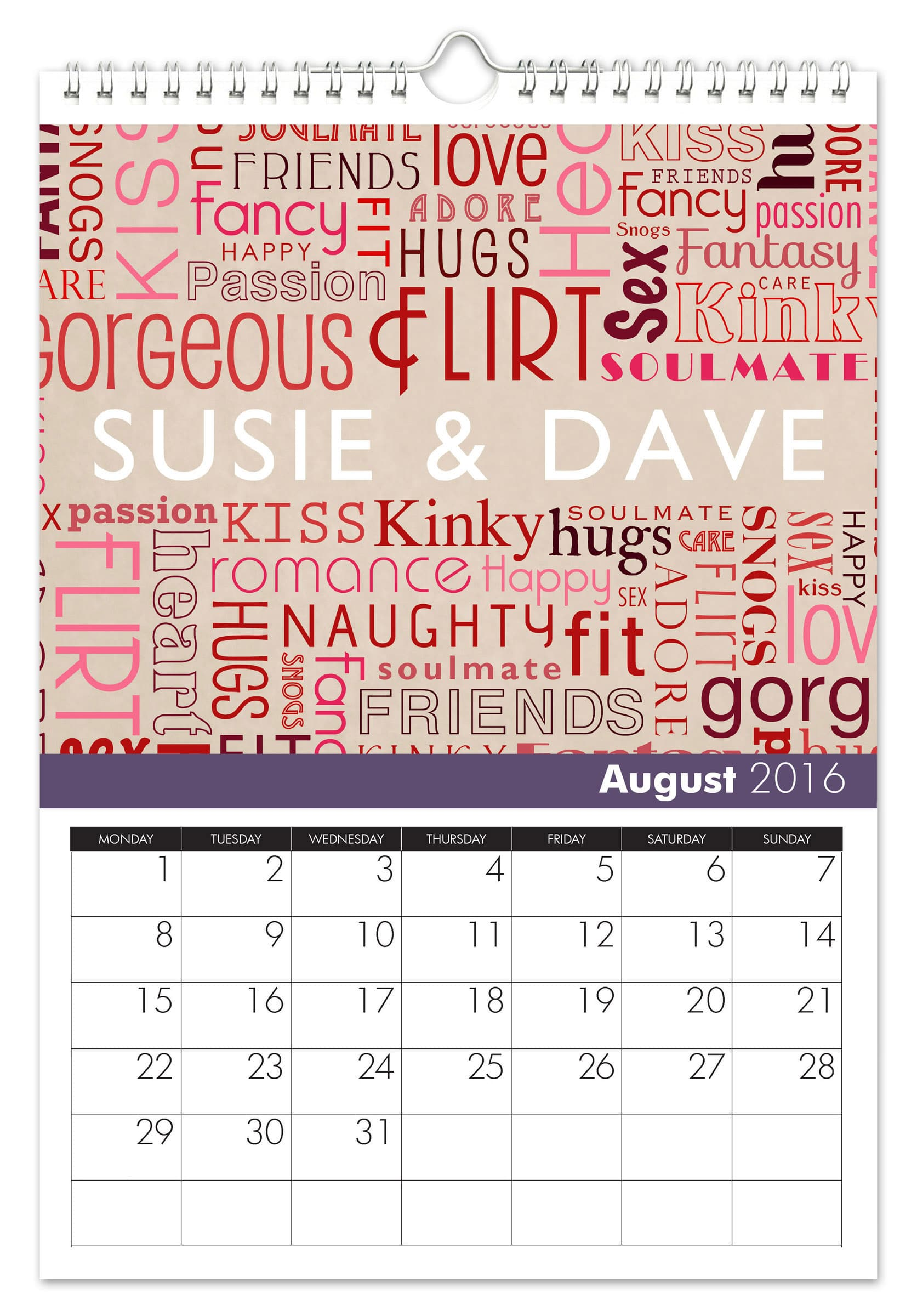 Personalized Anniversary Calendar | Signature Gifts