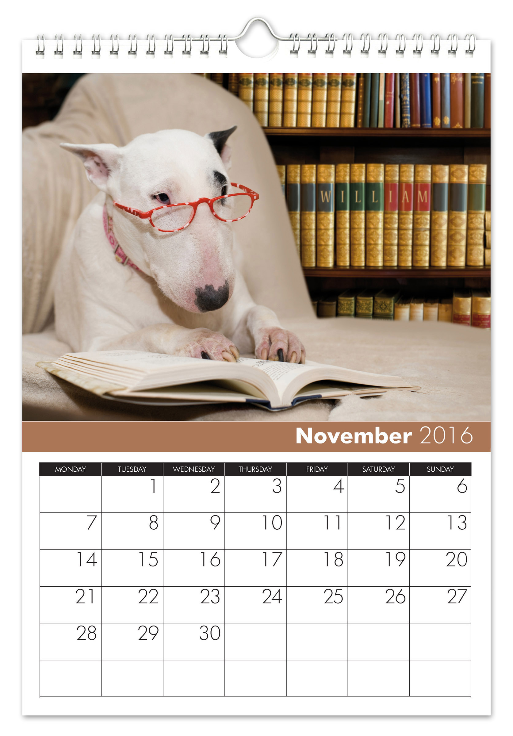 Personalized Dogs Calendar Signature Gifts