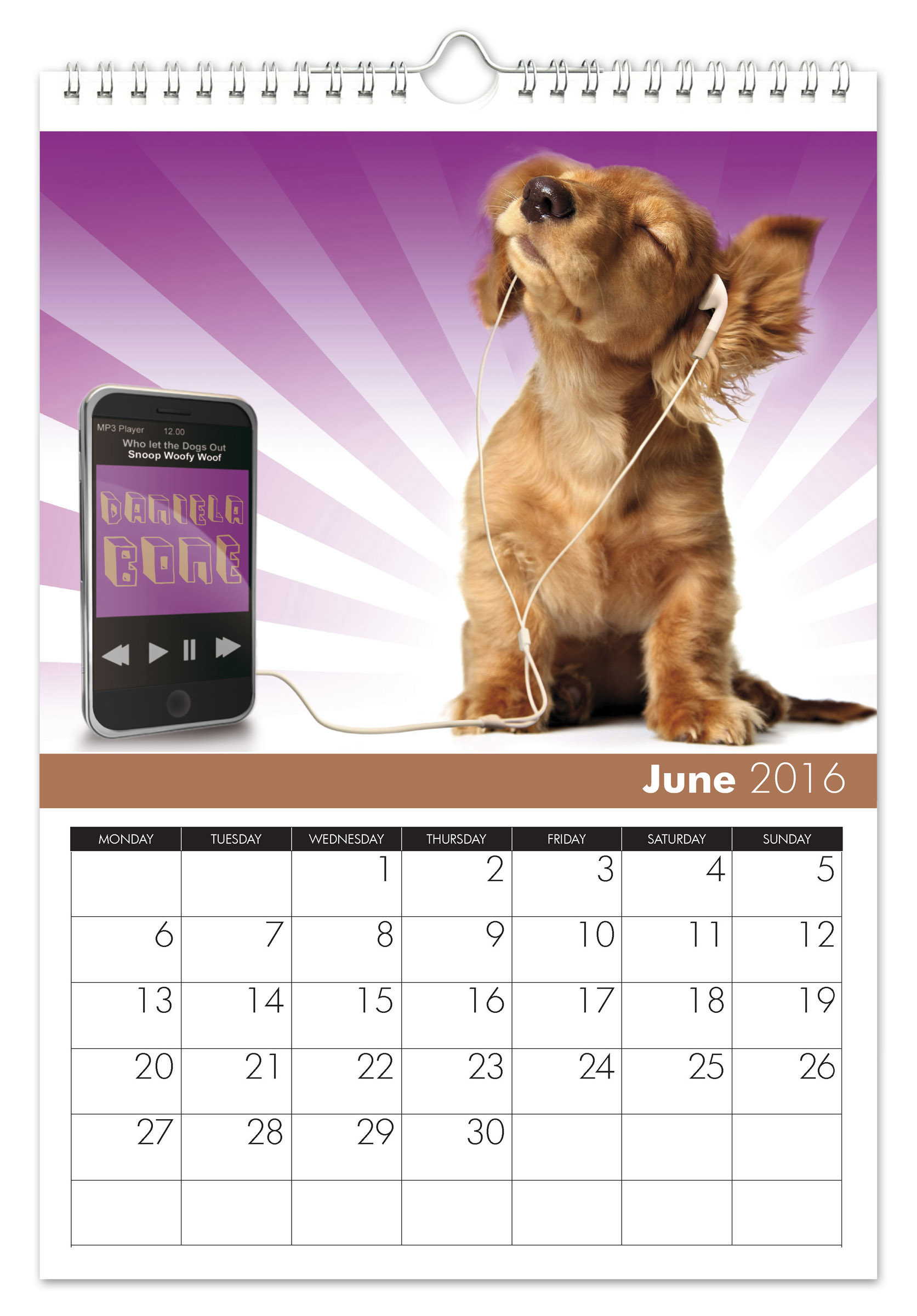 Calendar Dogs : Personalized dogs calendar signature gifts