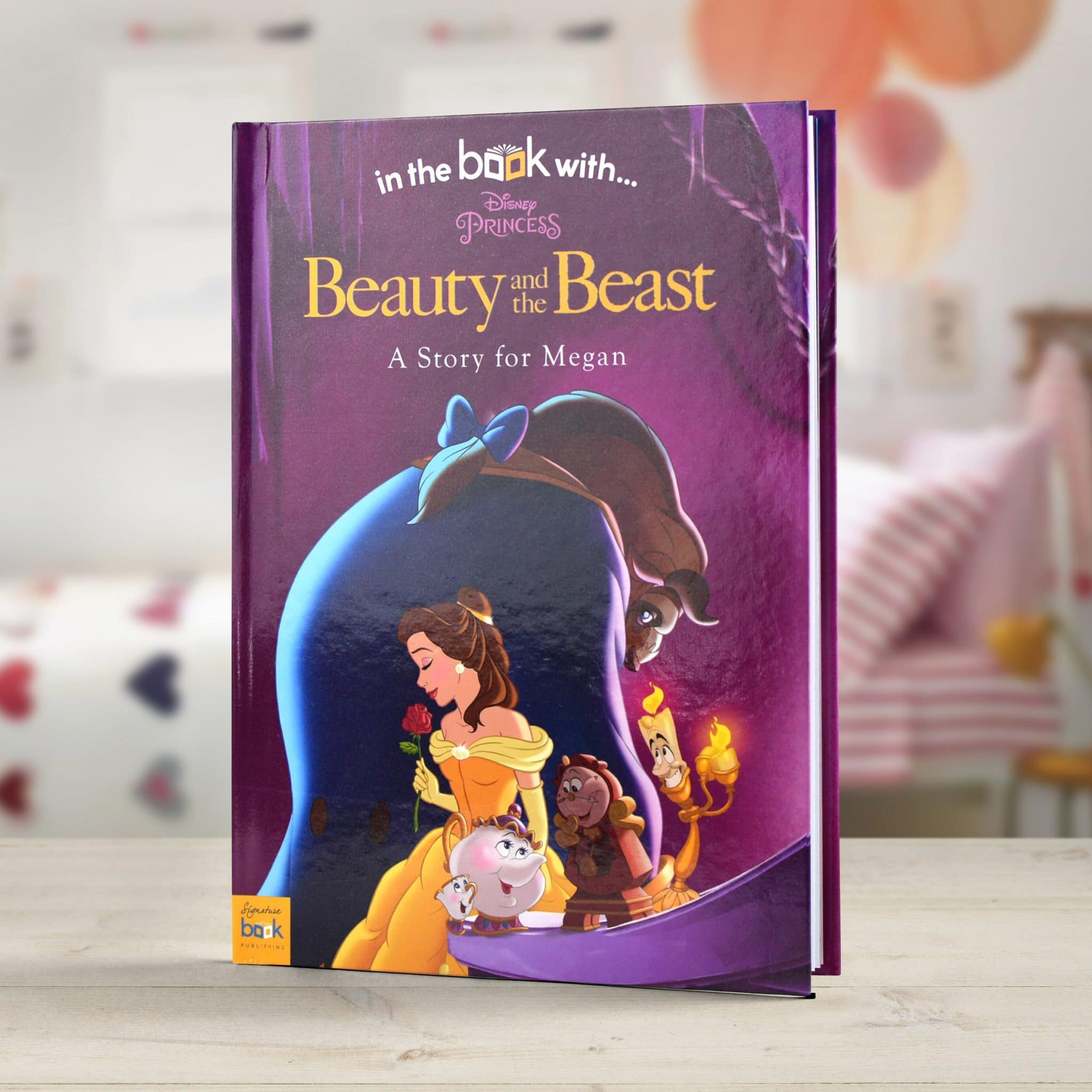 personalized disney beauty the beast story book signature gifts