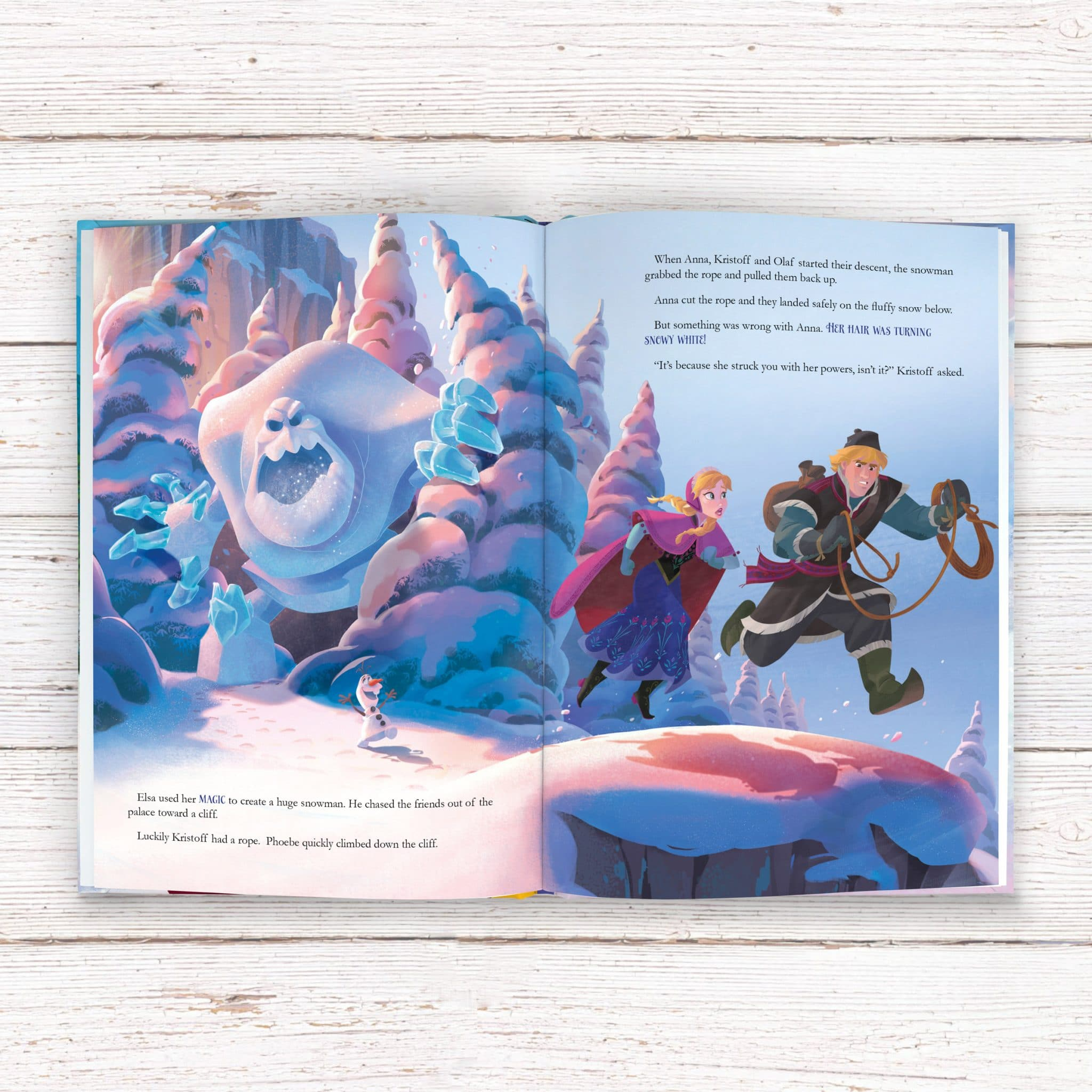 personalized disney frozen story book signature gifts