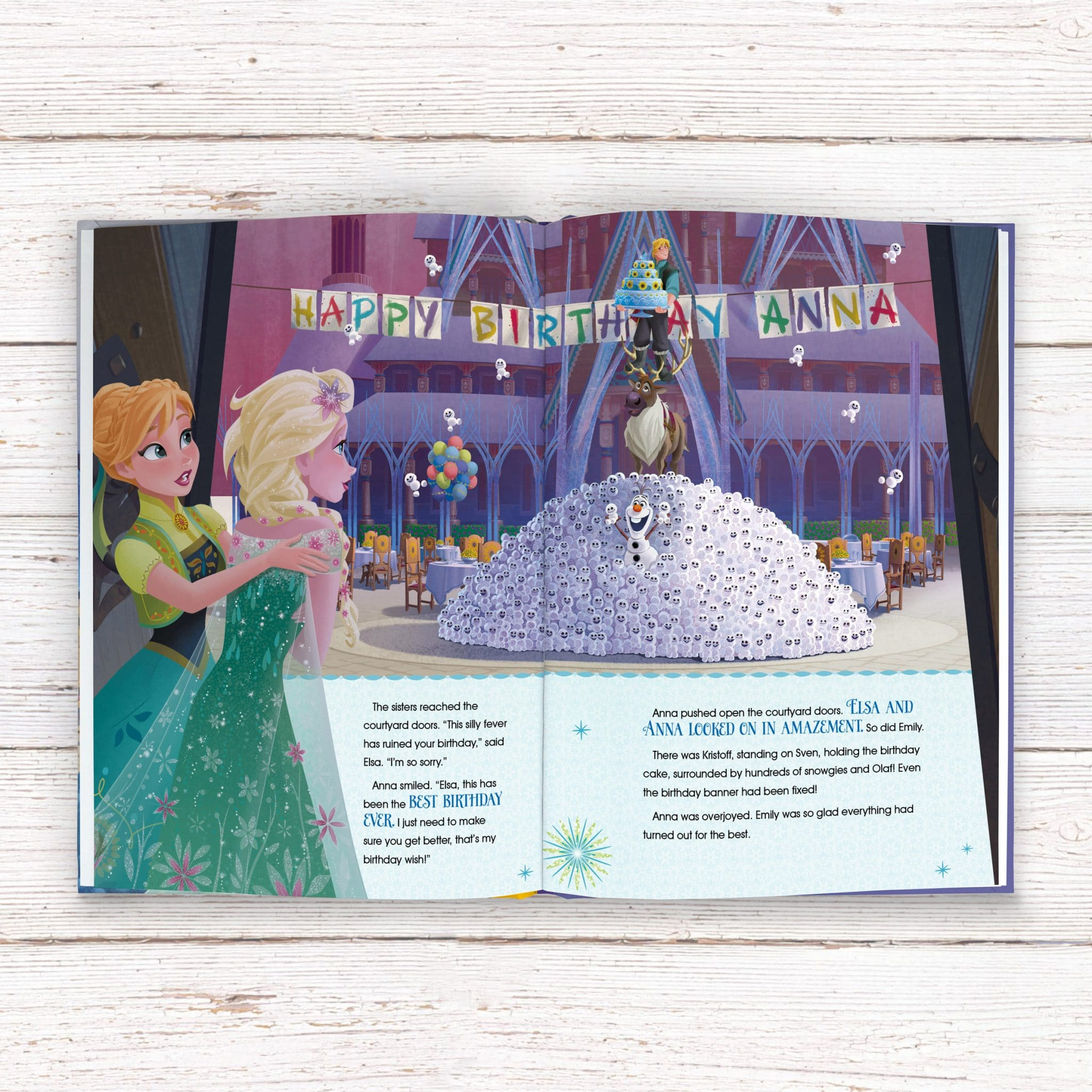 personalized disney frozen fever story book signature gifts