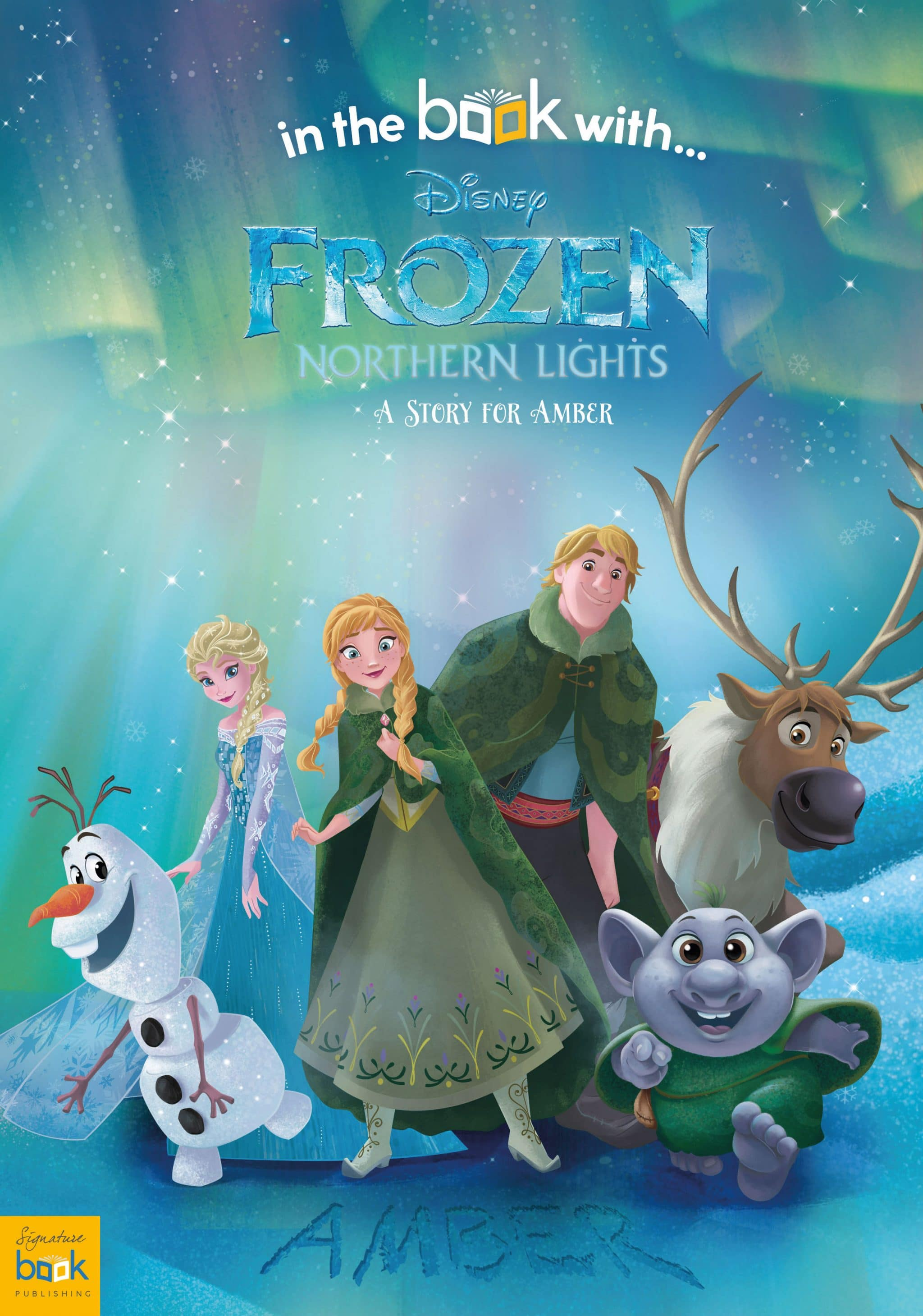 personalized disney frozen northern lights story book signature gifts