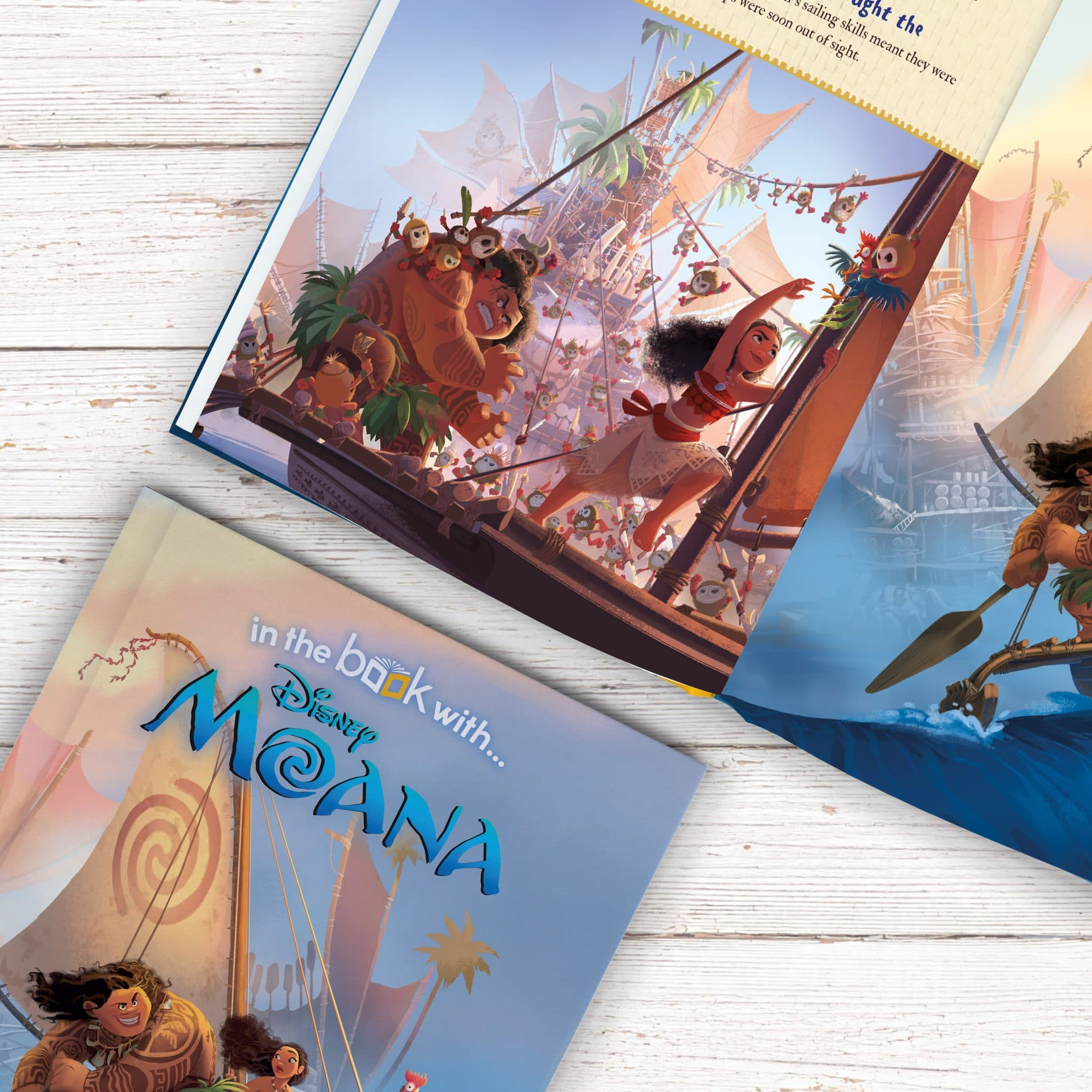 Moana Personalised Disney in the book with