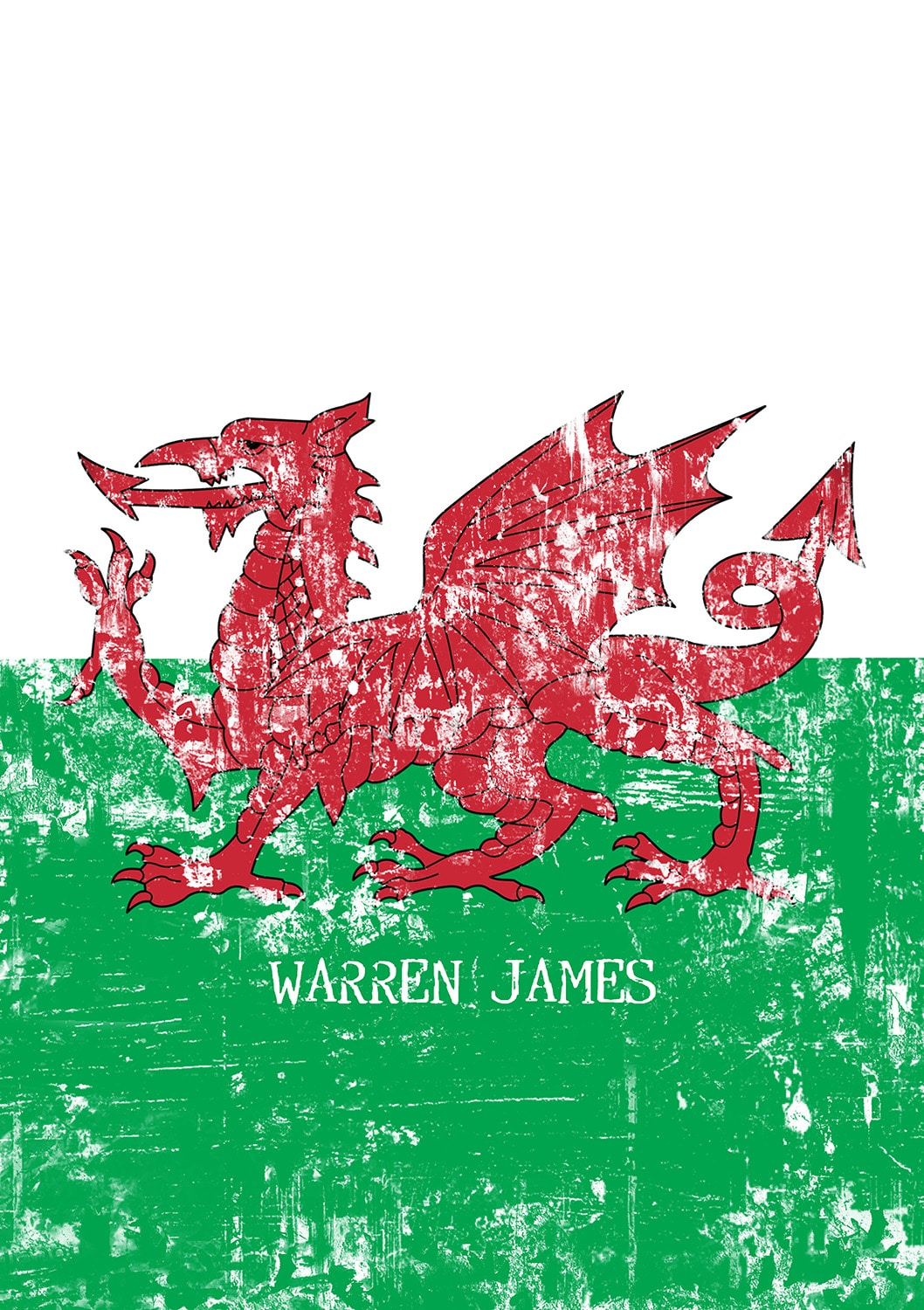 Welsh Dragon Grunge Notebook Signature Gifts