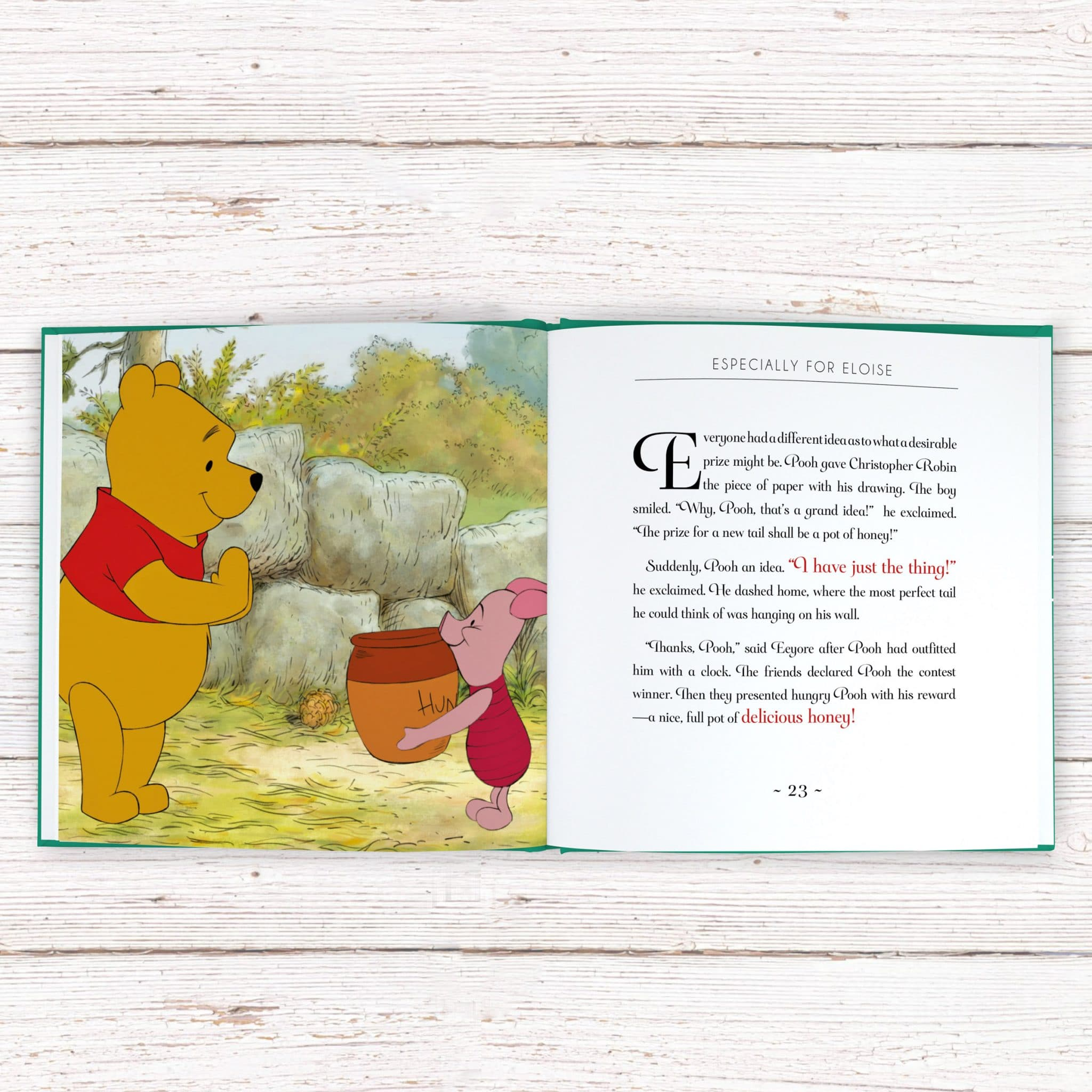 Personalized Disney Winnie The Pooh Story Book Signature