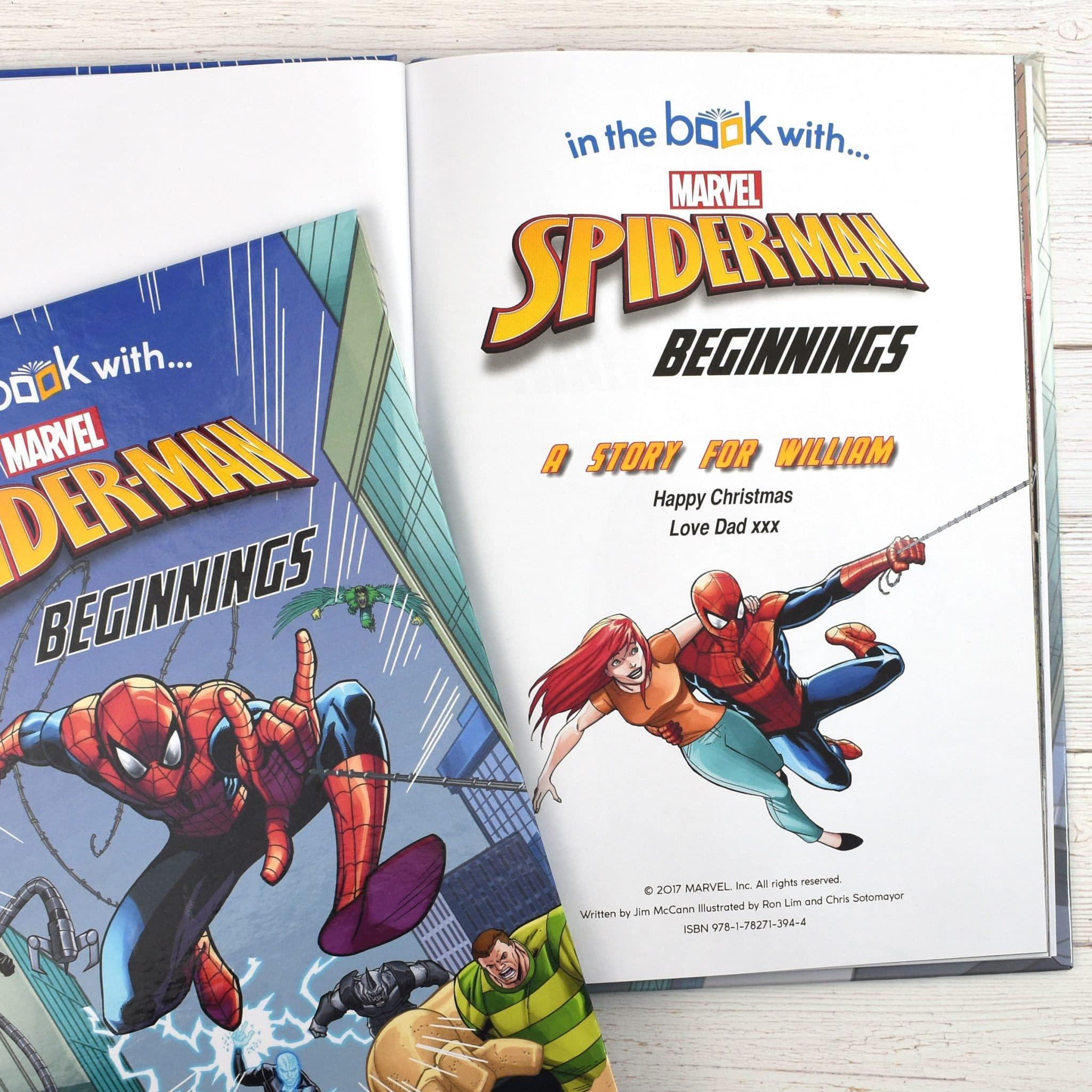 spider man beginnings personalized marvel story book signature gifts