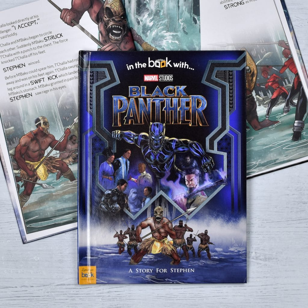 Black panther personalized marvel story book signature gifts