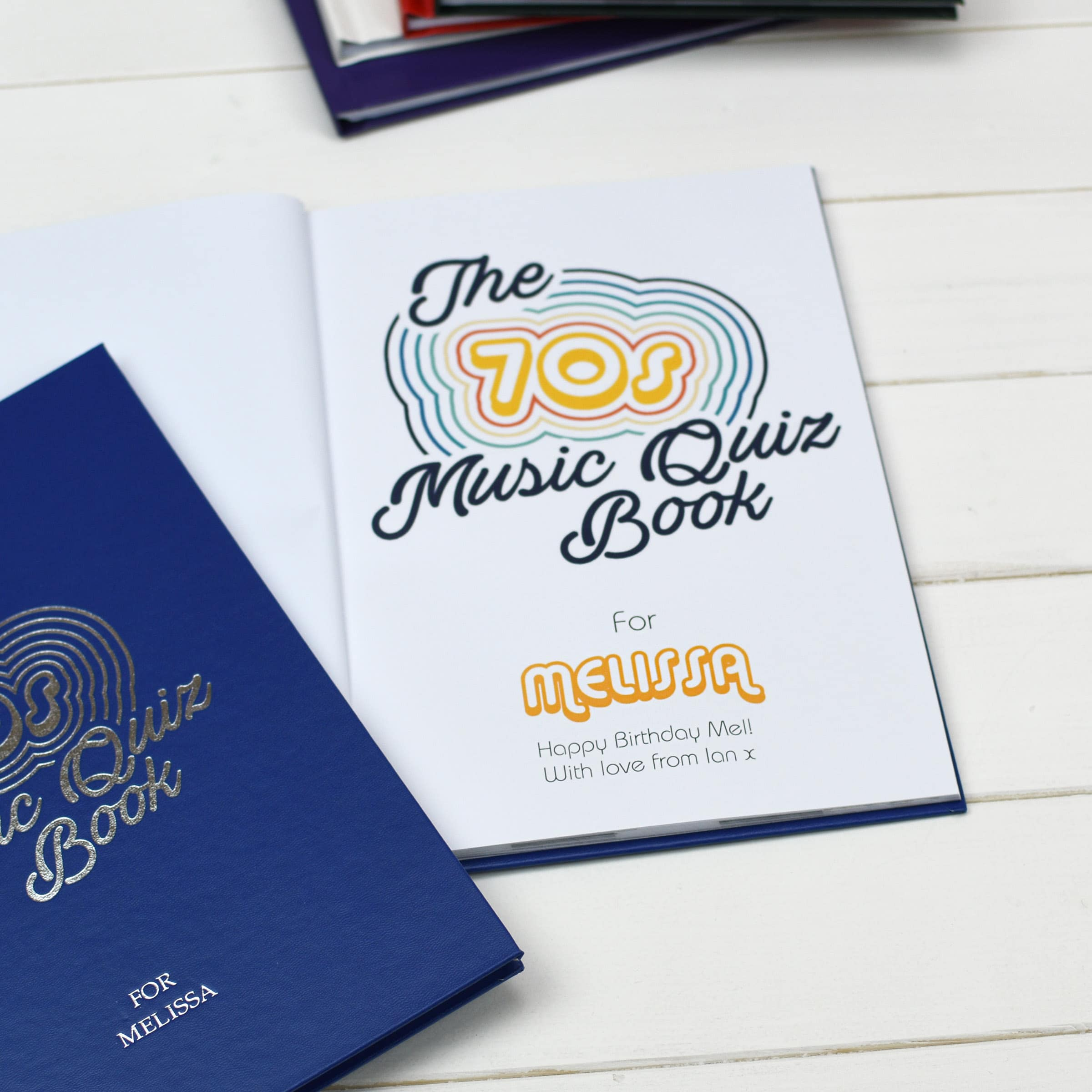 Personalized 1970s Music Quiz Book