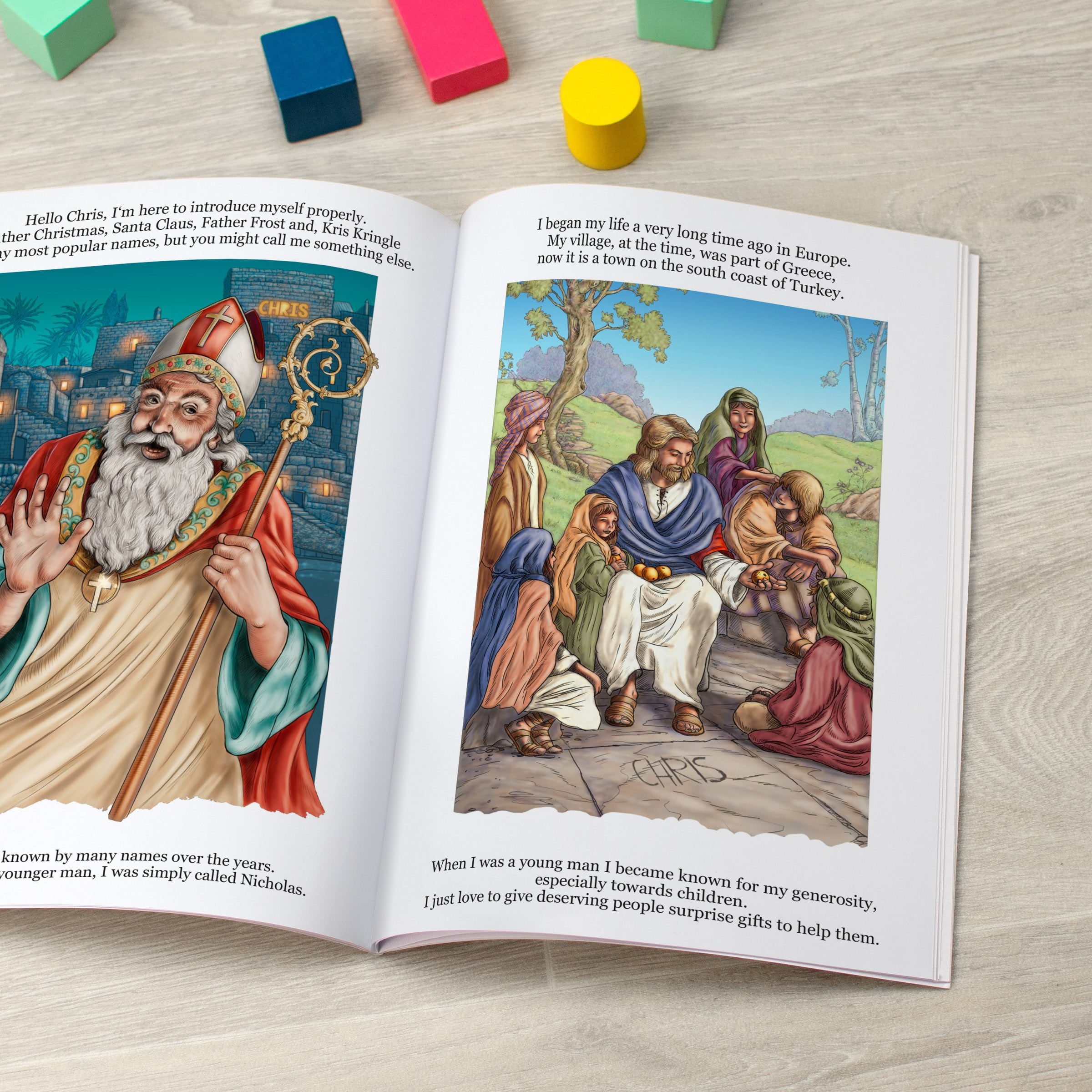 Personalized St Nicholas-Folklore Book - Signature Favorite